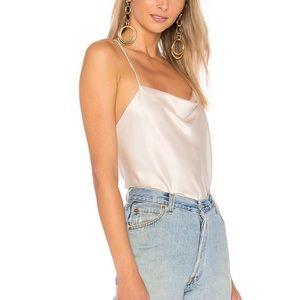 Alice + Olivia Harmon Drapey Slip Tank Camisole